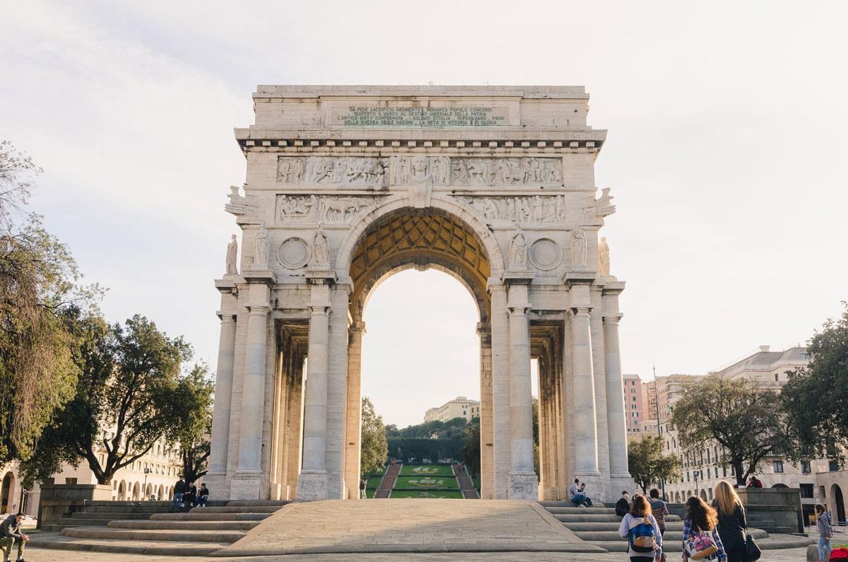 triumphal arch genoa